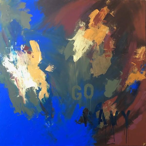 Go Navy! (Original) Art   Jen Sterling LLC