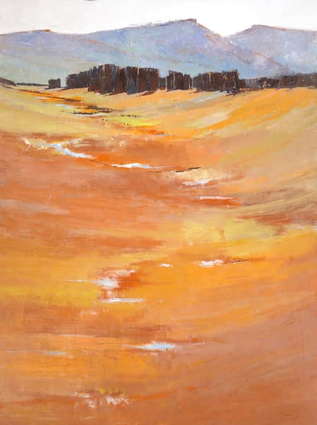 Silent Wilderness, Original Contemporary landscape by Sarah B Hansen