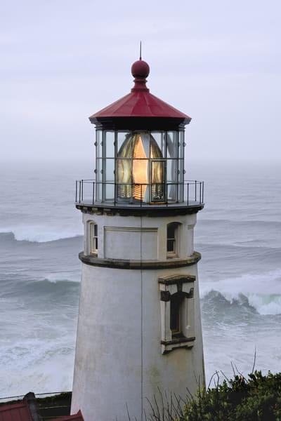 Heceta Head Lighthouse Waves Oregon Art   Shaun McGrath Photography