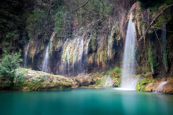 Turquoise Cascade Photography Art   Laura Tidwell Photography