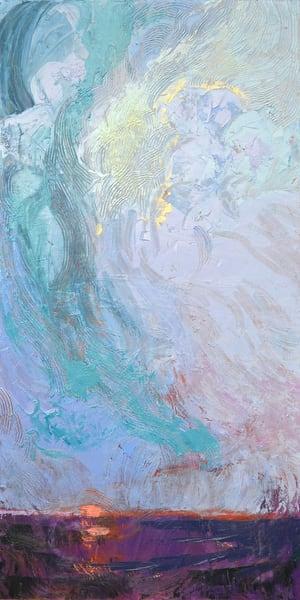 Uplifting Sky Painting, Blue Sky Original Oil by Dorothy Fagan