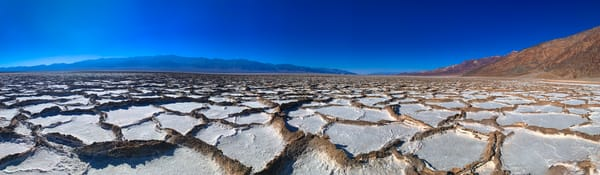 At 282 feet below sea level on Badwater Basin in Death Valley California