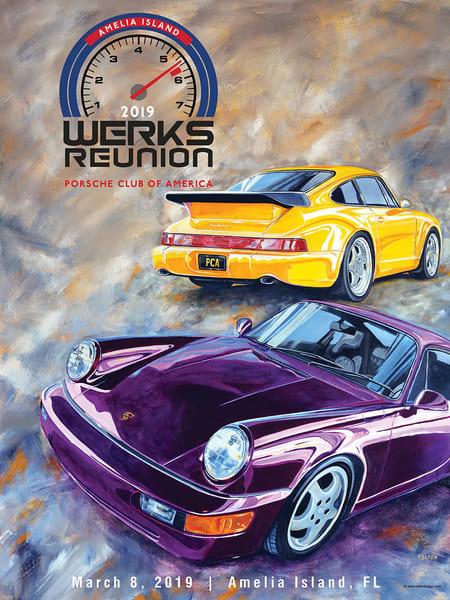 Pca Werks Reunion Amelia 2019 Poster | Telfer Design, Inc.