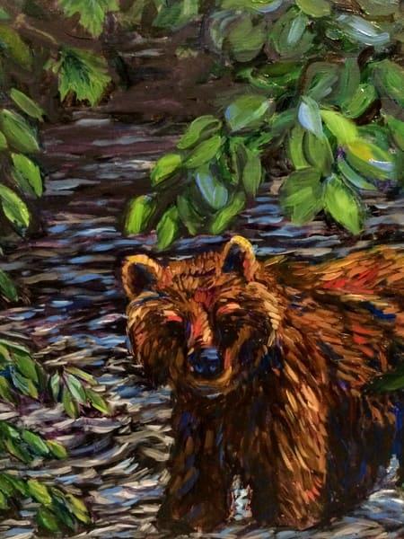 Riverside Brown Bear Art | Amanda Faith Alaska Paintings / Estuary Arts, LLC