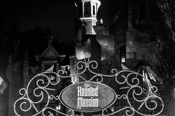 The Haunted Mansion Sign - Haunted Mansion Art