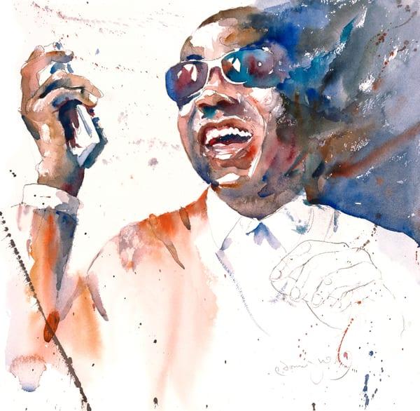 Wonderful  Stevie Wonder Art | Patrick Dominguez Art