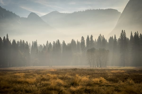 Autumn Dreams - Yosemite National Park, California Ahwahnee meadow landscape photograph print