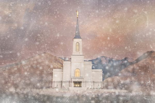 Star Valley Wyoming Temple - Snow