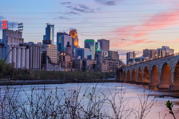 Cotton Candy City 2 - Minneapolis Cityscape