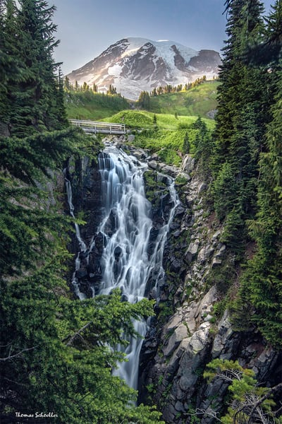 Pacific Northwest Nature | Edith Falls Fine Art Prints | Mount Rainier National Park Washington
