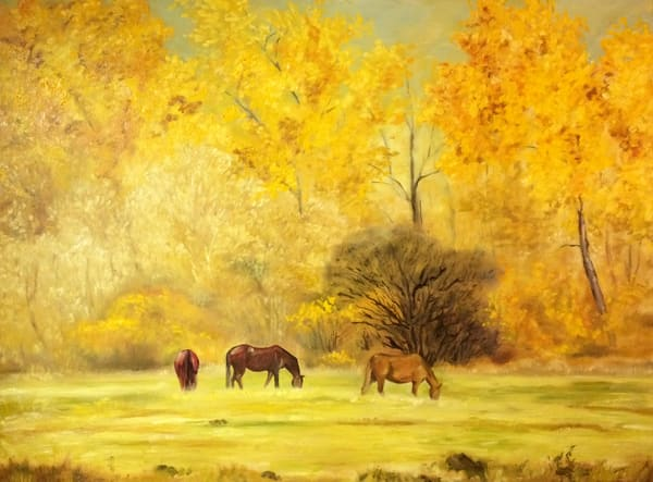 Autumn Glow by artist, Anton Uhl