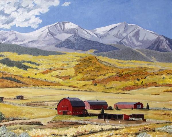 Sopris Ranch by artist, Anton Uhl