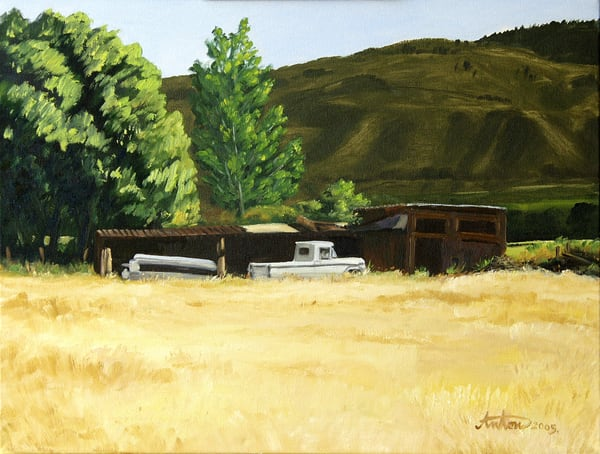 White Pickup by artist, Anton Uhl