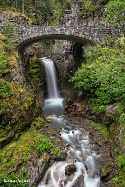 PNW Waterfalls | Christine Falls Bridge fine art prints | Mt Rainier National Park Washington