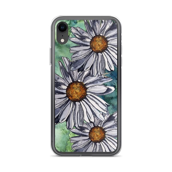 White Daisies I Phone Case   Water+Ink Studios