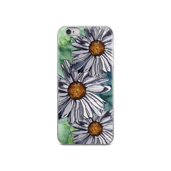 White Daisies I Phone Case by waterplusink