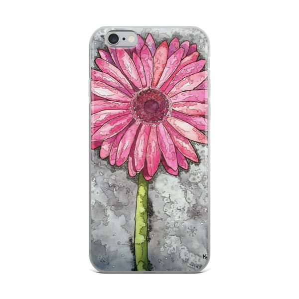 Pink Gerber Daisy I Phone Case | Water+Ink Studios