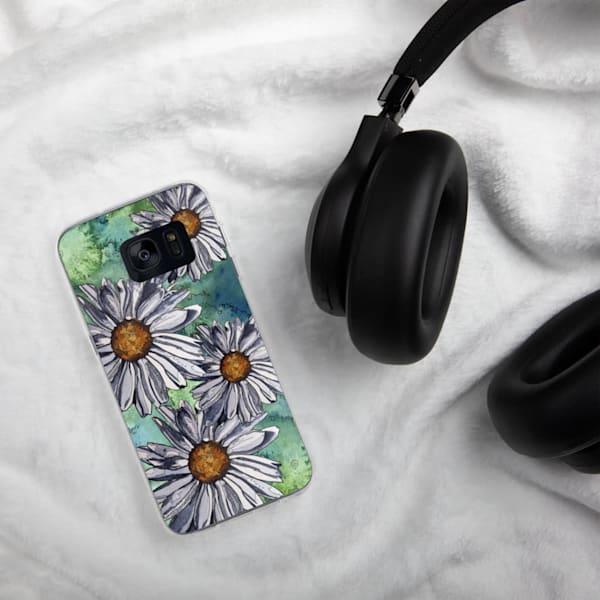 White Daisies Samsung Phone Case   Water+Ink Studios