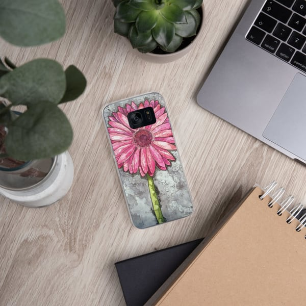 Pink Gerber Samsung Phone Case | Water+Ink Studios