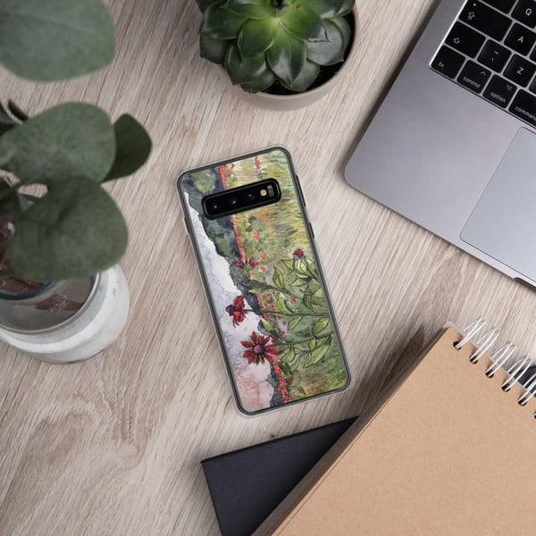 Crimson Daisies Samsung Phone Case   Water+Ink Studios