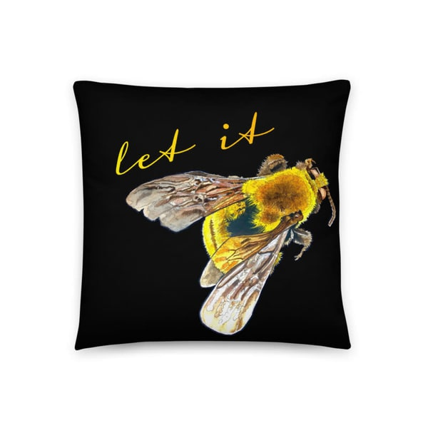 Let It Bee Pillow | Water+Ink Studios