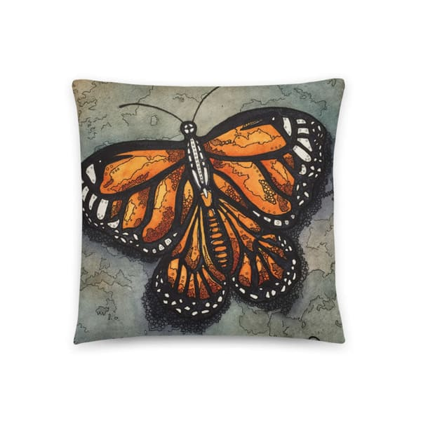 Monarch Pillow | Water+Ink Studios