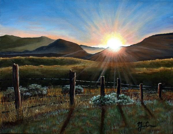 Sunset Over The Grasslands Art | Monique Cudbertson Art