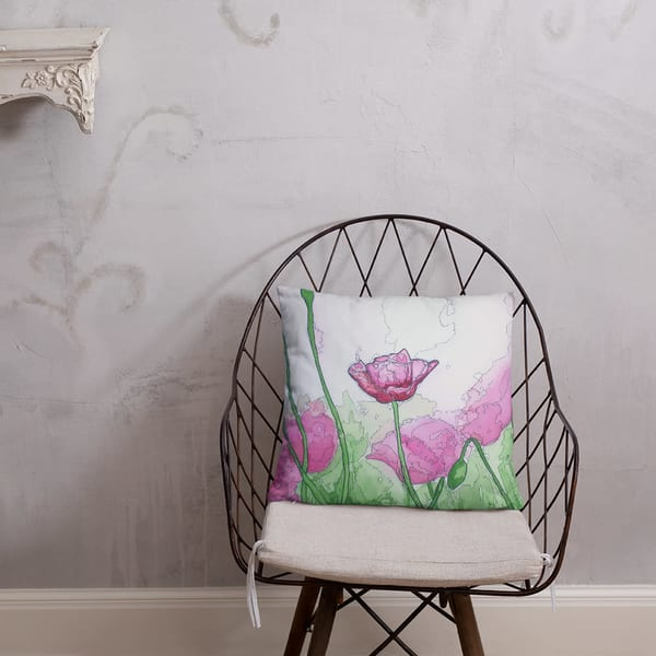 Pink Haze Pillow | Water+Ink Studios