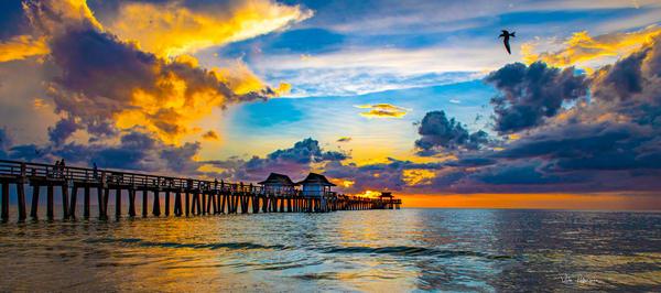 Sunset Naples Pier Photography Art | vitopalmisano