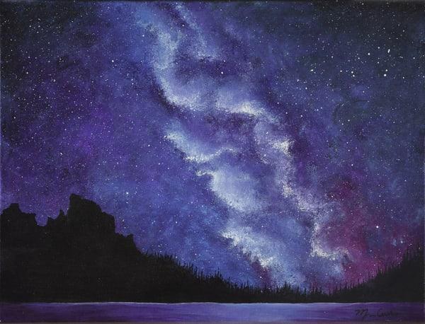 Milky Way Over The Rockies Art   Monique Cudbertson Art