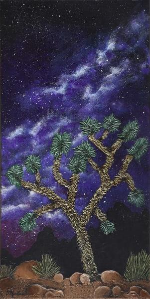 Starry Joshua Tree Art   Monique Cudbertson Art