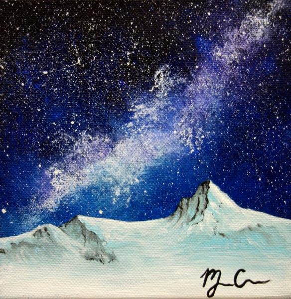 Snow And Stars Art   Monique Cudbertson Art