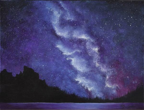 Milky Way Over The Rockies Art | Monique Cudbertson Art
