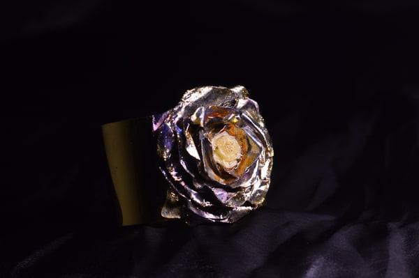 White Metallic Rose | KAT MILLER-PHOTO ARTIST