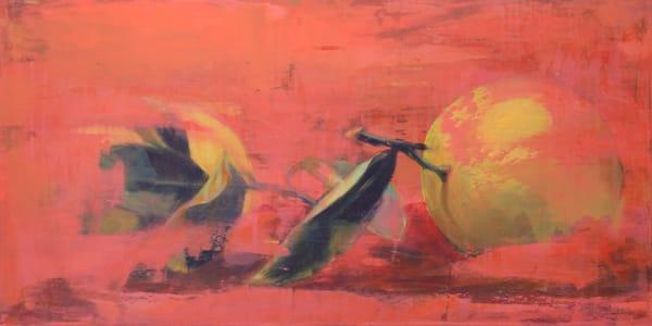 Lemons On Orange Art | L3 Art Decor