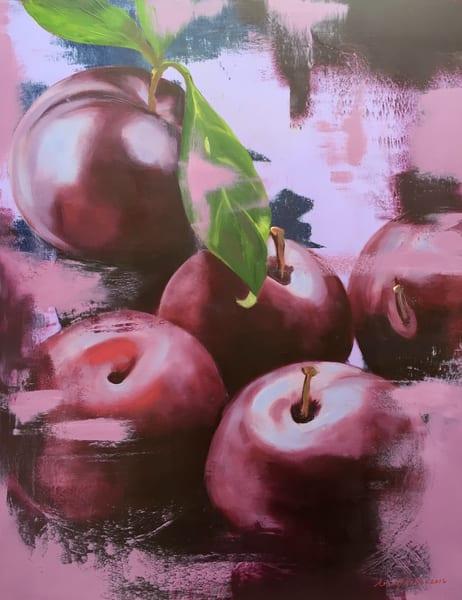 Plums On Pink Art | L3 Art Decor