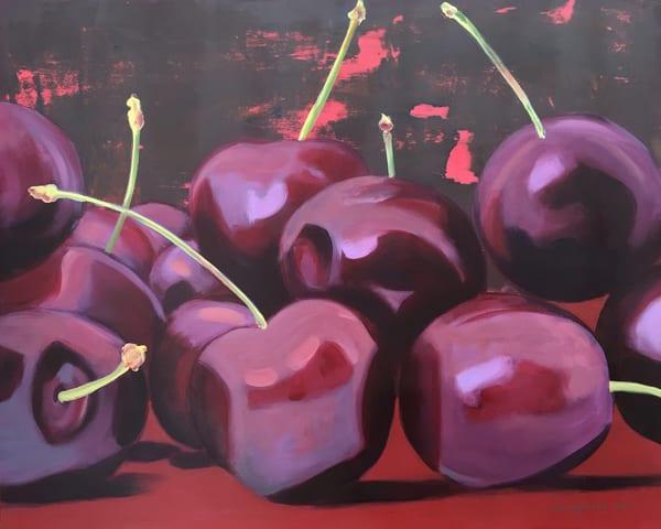 Cherries On Red Art | L3 Art Decor