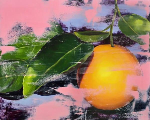 Pink With Lemon Art | L3 Art Decor