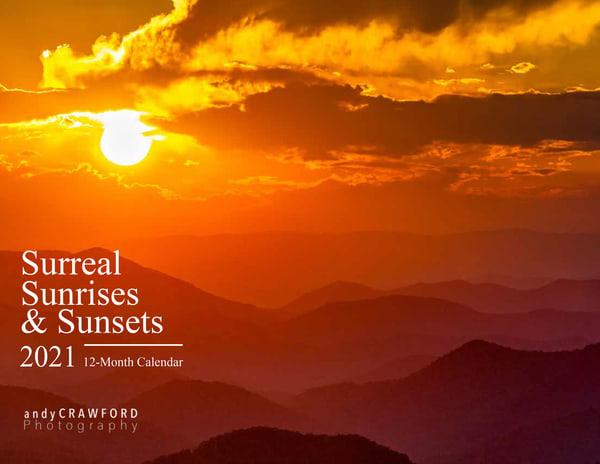 2021 Surreal Sunrises & Sunsets 12-month calendar