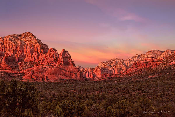 J Stoner   Az Sunset In Sedona Art | Branson West Art Gallery - Mary Phillip