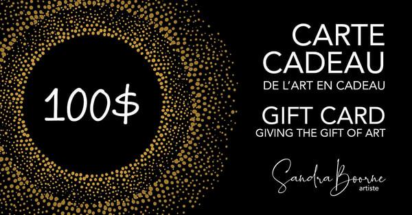 $100 Gift Card / Carte Cadeau 100$