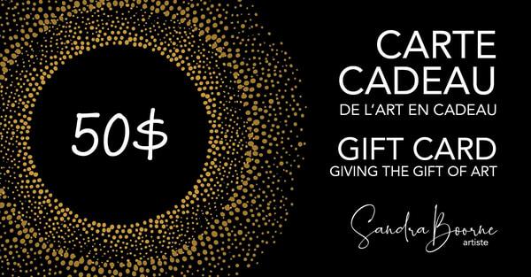 $50 Gift Card / Carte Cadeau 50$