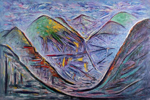 """Valley Floor Gold"" Original Art | Daniel Kanow Fine Art"