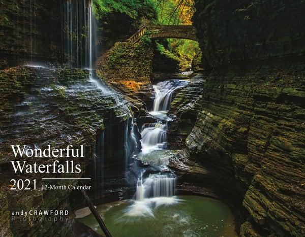 2021 Wonderful Waterfalls 12-month Calendar