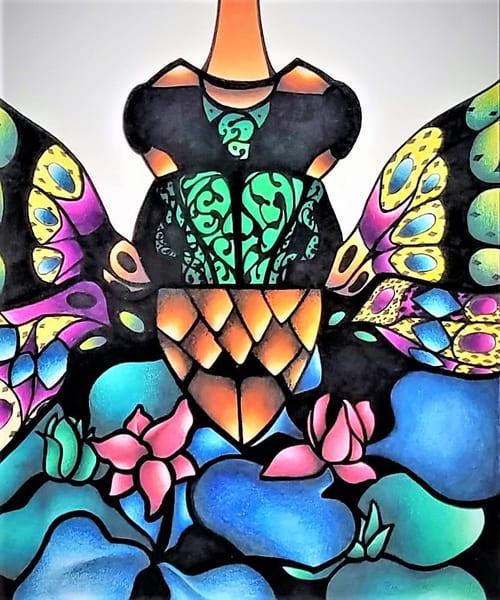 Butterfly Gate (Mi Mundo Raro Series) Art | East End Arts