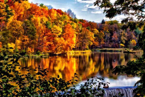 Beebe Lake in October #cornell #fingerlakes #travel #monroephotoart #visitithaca #visitfingerlakes #cornelluniversity