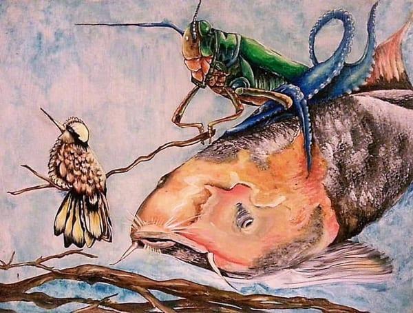 Gone Fishin' (Mi Mundo Raro Series) Art | East End Arts