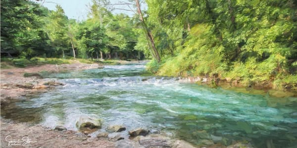 J Stoner   Blue Green Water Art | Branson West Art Gallery - Mary Phillip