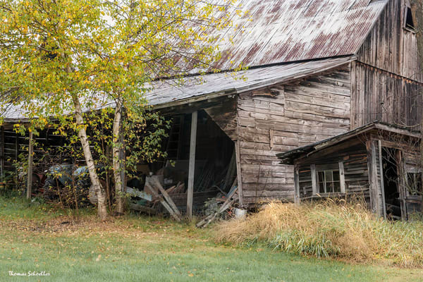 Ramshackle old barn fine art prints | rustic Vermont scenic landscapes as wall art decor