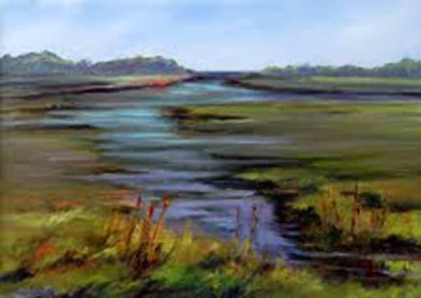 Barn Island, Original Oil Painting